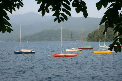 Sailboats at Lake Nojiri